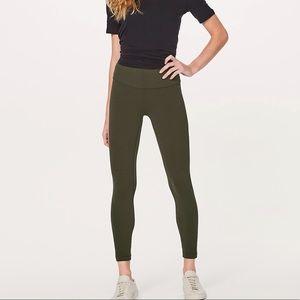 Lululemon Align Pant II 7/8 -Olive Green - Size 6